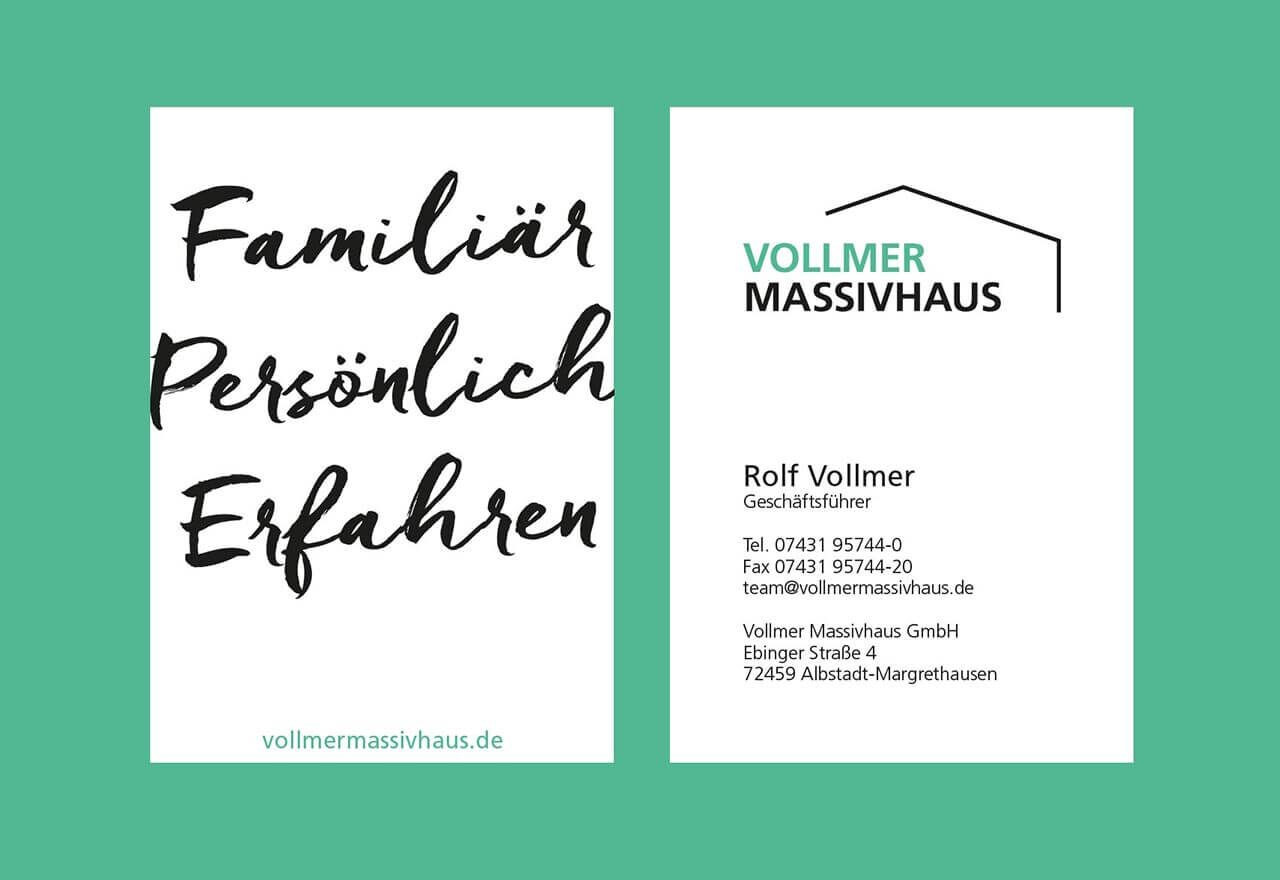 Agentur Corporate Design Visitenkarte Albstadt